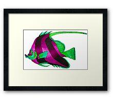 odd purple fish painting Framed Print