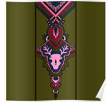 pattern with deer skull Poster