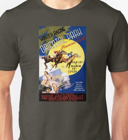 Havana Horse Racing Vintage Travel Poster Restored Unisex T-Shirt