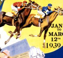 Havana Horse Racing Vintage Travel Poster Restored Sticker