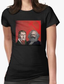 HEGEL AND MARX, communist philosophers Womens Fitted T-Shirt