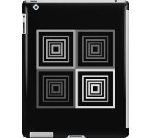 Square Retro Pattern Design Grey and Black  iPad Case/Skin