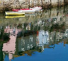 Mevagissey, Cornwall Harbour Reflections by saxonfenken
