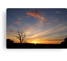 sweeping sunset ~ towards Wellington NSW  Canvas Print