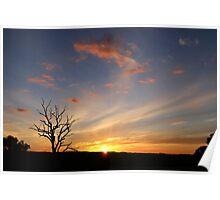 sweeping sunset ~ towards Wellington NSW  Poster