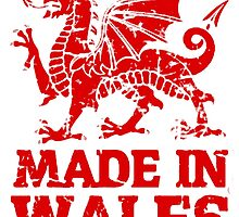 Made In Wales T Shirts, Stickers and Other Gifts by zandosfactry
