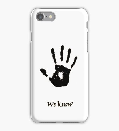 Dark Brotherhood Knows.. You've been Bad! iPhone Case/Skin
