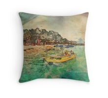 View from Avalon Bridge Isla Mujeres Throw Pillow