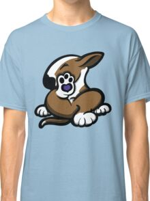 English Bull Terrier Kicking Back Brown and White  Classic T-Shirt