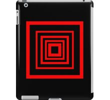 Square Retro Pattern Design Red and Black  iPad Case/Skin