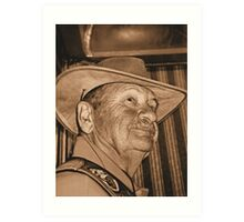 Portrait of Grandpa in Sepia Art Print