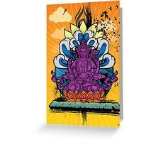 Buddha Graffiti Greeting Card