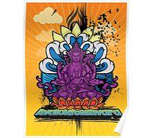 Buddha Graffiti Poster