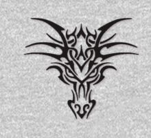 Dragon face brand - Black  by Anarchysmaster