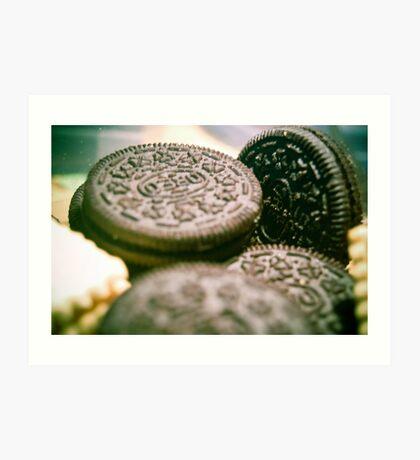 Oreo Biscuits Art Print