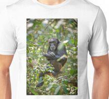 old chimpanzee on a tree Unisex T-Shirt