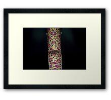 Mughal Dagger Hilt Framed Print