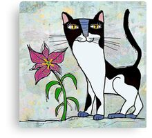 Poncho and the lily Canvas Print