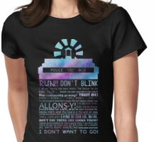 10TH doctor QUOTES Womens Fitted T-Shirt
