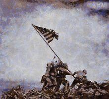 Iwo Jima by John Springfield by esotericaart