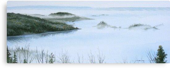 Mist Over Hydro Bay by Douglas Hunt