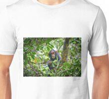 cute feeding juvenile chimpanzee, Kibale National Park Unisex T-Shirt