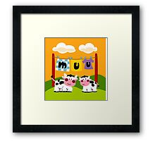 Two Cows Framed Print