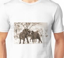 fighting male African Elephants Unisex T-Shirt