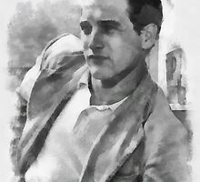 Paul Newman actor by John Springfield by esotericaart