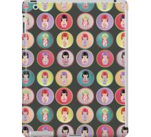 Japanese Kokeshi Dolls iPad Case/Skin