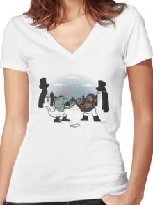Gentleman's Rampage Women's Fitted V-Neck T-Shirt