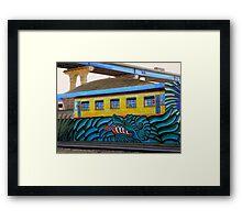 Trainspotting in The Barrio Framed Print