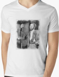 Frank Sinatra by John Springfield Mens V-Neck T-Shirt