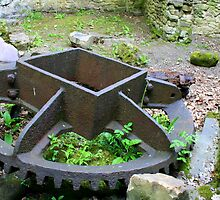 Mill wheel. by Christine  Treece