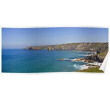 Cornish cliffs Poster