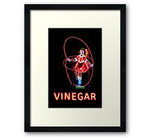 Skipping Girl Neon Clothing Framed Print