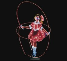 Skipping Girl Neon Clothing by Jane McDougall