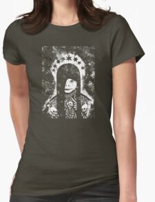 Coiled in Shadows, Distant From Light Womens Fitted T-Shirt