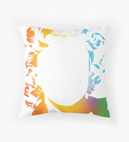 Marilyn vacant expression Throw Pillow