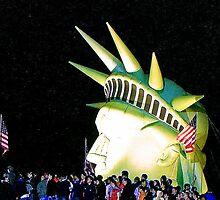 Lady Liberty at Gasworks Park, Seattle, WA by Barb White