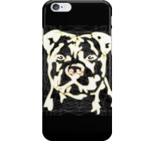 strong pitbul with illustration iPhone Case/Skin