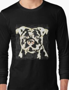 strong pitbul with illustration T-Shirt