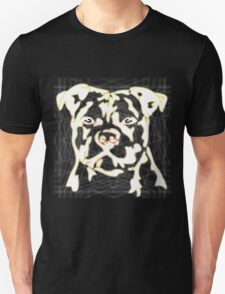 strong pitbul with illustration Unisex T-Shirt