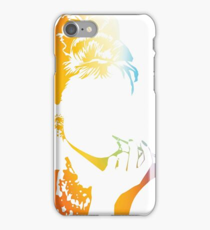 Audrey Hepburn vacant expression iPhone Case/Skin