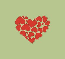 Heart Made of Hearts - Red by sitnica