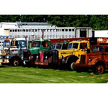 Oldies in a Row Photographic Print