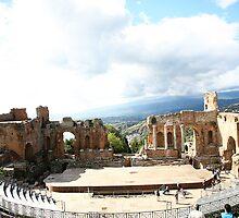 The Teatro Greco in Taormina Italy by tamarakenyon