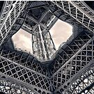 Inside the Eiffel Tower by ea-photos