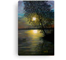 Acrylic Painting of A Sunset   Canvas Print