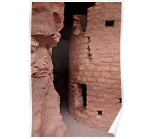 ancient clift dwellings near manitou springs Poster